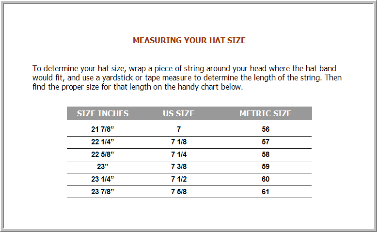 hat size chart canvas