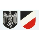 WWII German Army Helmet Decals