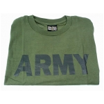 Milspec T-Shirt O.D. with Army Print