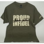 "Milspex T-Shirt OD with  ""PROUD INFIDEL"""