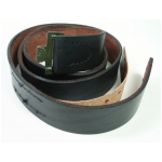 Enlisted Man's Black Leather Belt