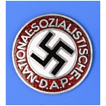 N.S.D.A.P. Nazi Party Membership Lapel Badge