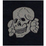 Waffen S.S. Enlisted Man's Cap Skull (Silk Woven)