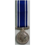 Police L.S.& Good Conduct Medal, Old Type, (mini)