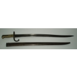 French Model 1866 Bayonet & Scabbard, (British Manufacture)