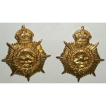 WWI Canadian Army Service Corps Collar Insignia, pair