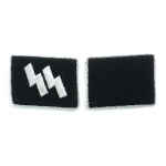 S.S. Officer's Rune Wire Collar Patches