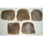 French Amber Flints, Large, (set of 5)