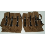 WWII German MP 44 Magazine Pouches, Late War