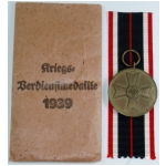 War Merit Medal with Issue Envelope, (original)