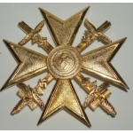 Spanish Cross in Gold with Swords