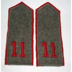 WWI German EM, 11th Inf. Regt. Shoulder Boards