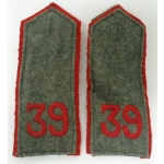 WWI German EM, 39th Inf. Regt. Shoulder Boards