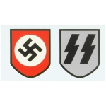 WWII German Waffen S.S. Helmet Decals
