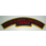 South Alberta Light Horse Canada, Shoulder Title