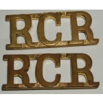 Royal Canadian Regiment Shoulder Titles, pair