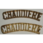 Regiment De La Chaudiere Shoulder Titles, pair