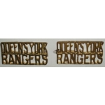 Queen's York Rangers Shoulder Titles, pair
