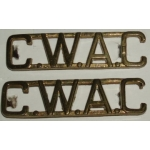 Canadian Women's Army Corps Shoulder Titles, pair