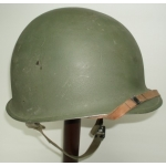 WWII US M1 Helmet, Fixed Bail