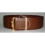 WWI German EM Brown Leather Belt with Hook