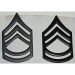 US Army Master Sgt. Subdued Collar Insignia, (Pair)