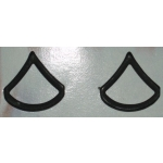 US Army PFC Subdued Collar Insignia, (Pair)
