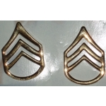 US Army Staff Sgt. Gold Collar Insignia, (Pair)