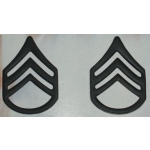 US Army Staff Sgt. Subdued Collar Insignia, (Pair)